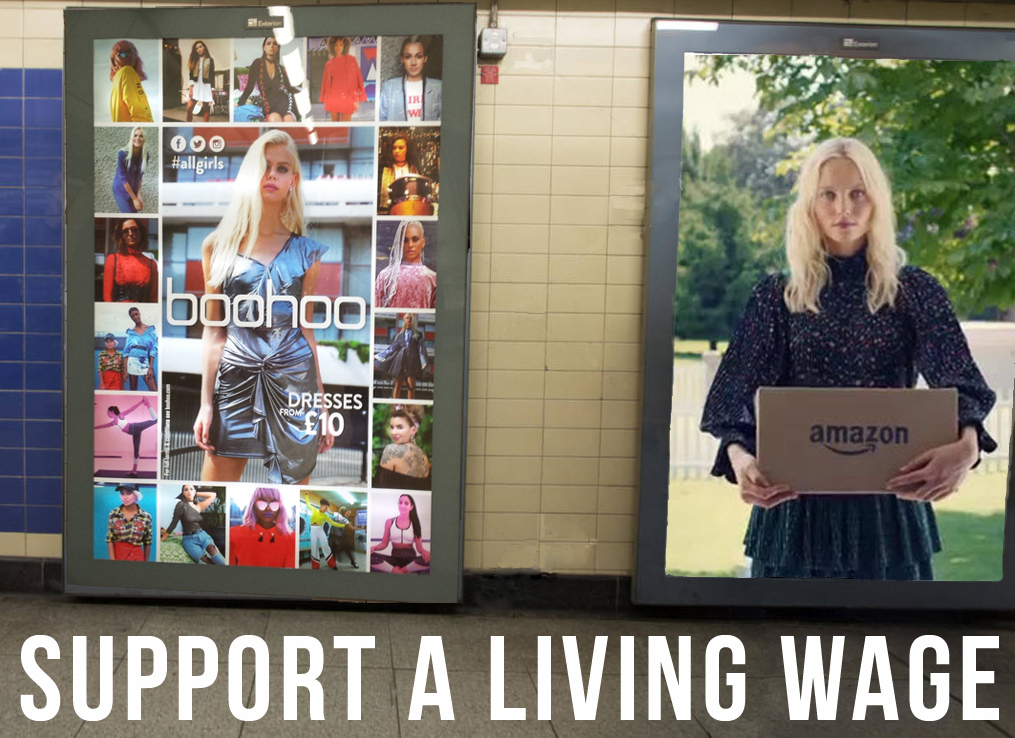 Tell Boohoo and Amazon to pay a living wage