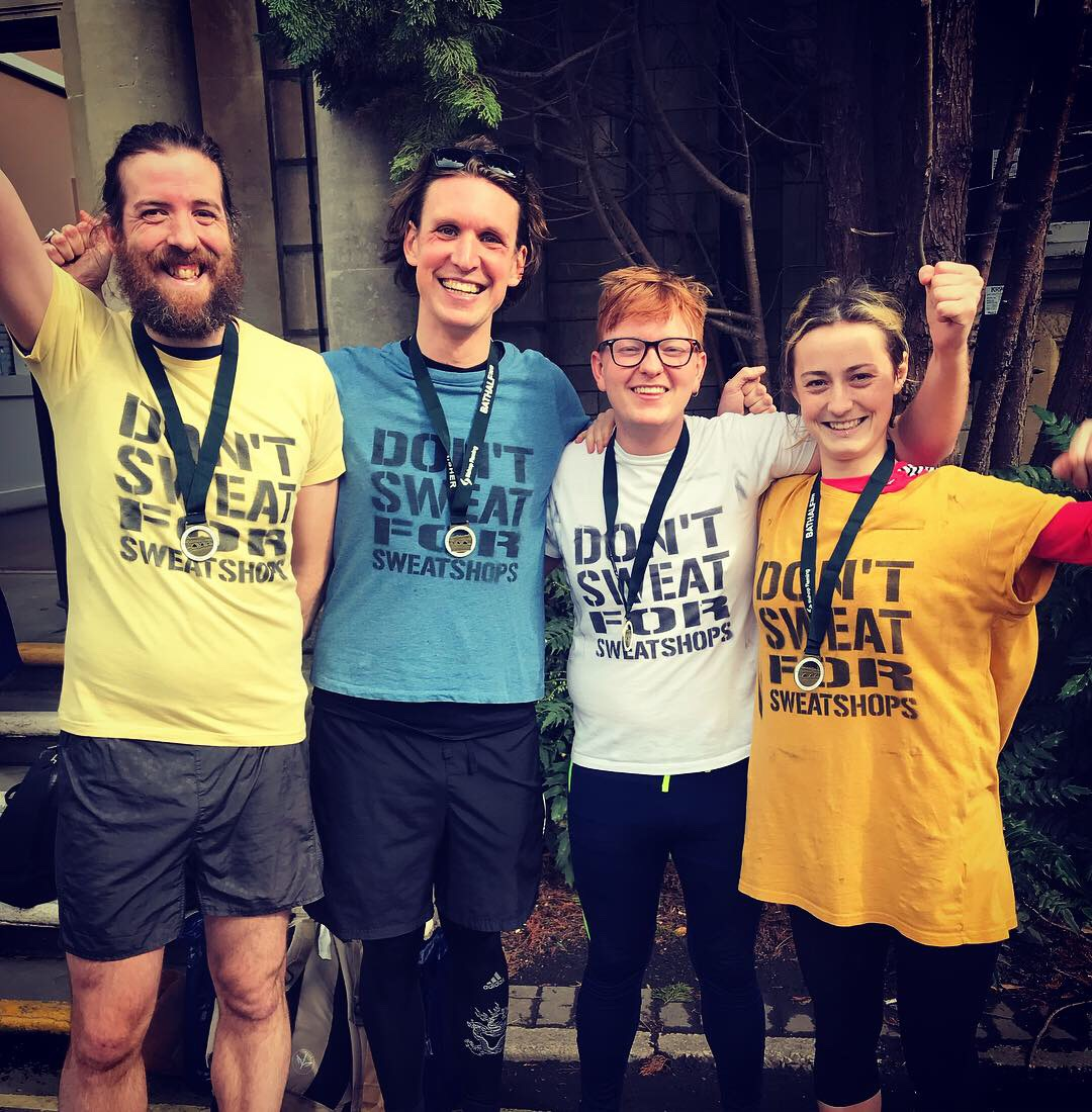 Labour Behind the Label runners at the Bath Half