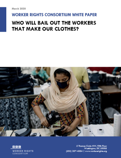 Report: Who will bail out the workers who make our clothes?