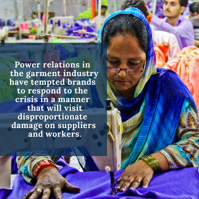 COVID-19 Short Term Demands in defense of Garment Workers in Global Supply Chains