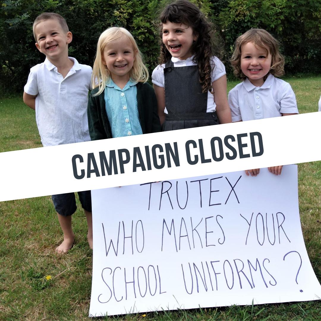 Trutex school uniform campaign: update